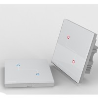 CG-TCKSXG-02 2 Gang Smart switch and remote control suit - Smart home control system 86 glass panel Switch